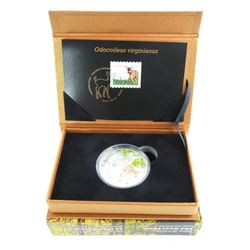 The Deer Fawn Stamp and Coin Set .9999 Fine Silver $20.0 LE 4000 Sets