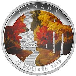 2015 - $20 Autumn Express .9999 Fine Silver.