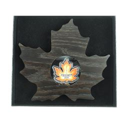 2016 .9999 Fine Silver $20.00 Coin Canada's Colourful Maple Leaf with Display