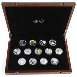 RCM Proof Coin Collection .9999 Fine Silver Special Issues LE with C.O.A. RCM Collector Case