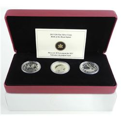 Birth of Royal Infant 3 Coin Set Trilogy of 1oz Coins Proof .9999 Fine Silver with c.o.a.