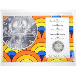 Decades 60s 1966 Canadian Silver Dollar Display