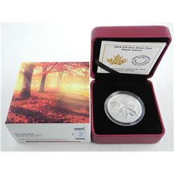 2019 .9999 Fine Silver $10.00 Maple Leaves. LE/C.O.A.