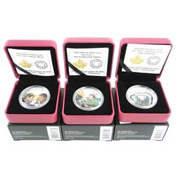 Grouping (3) .9999 Fine Silver $20.00 Coins 3 Assorted 'STAR TREK'