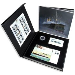 Empress of Ireland 100th Anniversary Collection 36 Page Book, LE Coin, Postcards. 16 Stamps, First D