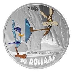 Warner Bros/RCM Looney Tunes Series .9999 Fine Silver $30.00 Coin 'BIP BIP' Includes Wood Case Displ