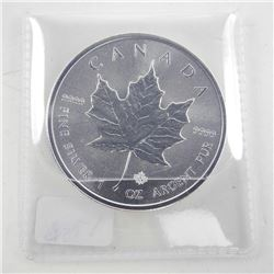 .999 Fine Silver 1oz Maple Leaf 2019 5.00 Coin