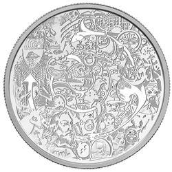 2014 .999 Fine Silver $30.00 Coin Contemporary Art LE/C.O.A.