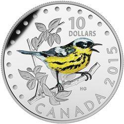 .9999 Fine Silver $10.00 Coin 'The Magnolia Warbler' LE/C.O.A.
