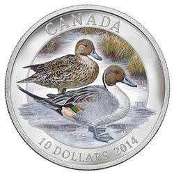 .9999 Fine Silver $10.00 Coin 'Silver Pintail' LE/C.O.A.