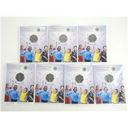 Lot (7) Royal Mint 50 Pence 100 Year - Girl Guides 2010 BU Coins