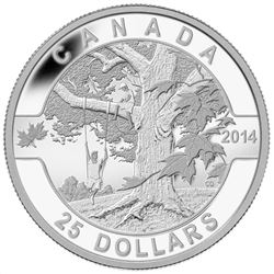 .9999 Fine Silver $25.00 Coin 'Under the Maple Tree' LE/C.O.A.