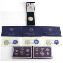 US Mint Treasury Group of Silver Coins, UNC Dollars and Proof Sets