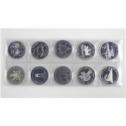 Group of (10) BU Silver Dollars