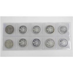 Group of (10) Canada Silver 50 Cents