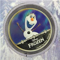 DISNEY 1oz Silver Coin 'OLAF' with Display Case