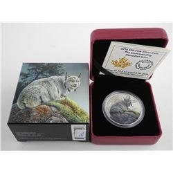 RCM 2016 .999 Fine Silver $20.00 Coin 'Lynx' LE/C.O.A.
