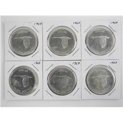 Lot (6) 1867-1967 Silver Dollars