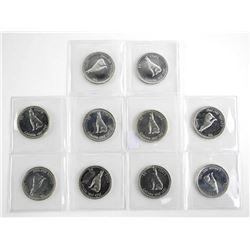Lot (10) 1867-1967 Silver 50 Cent Specimen