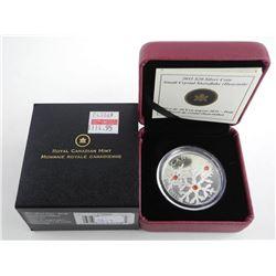 .9999 Fine Silver $20.00 Coin Crystal Snowflakes 'Hyacinth' LE/C.O.A.