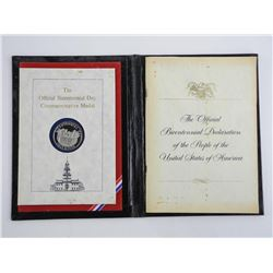 Official Bicentennial Day Commemorative Medal July 4, 1976