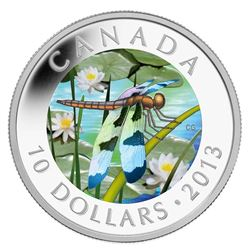 .9999 Fine Silver $10.00 Coin 'Twelve Spotted Skimmer' LE/C.O.A.