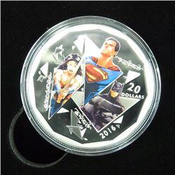 .999 Fine Silver $20.00 Coin 'Dawn of Justice' The Trinity DC Comics LE/.CO.A.