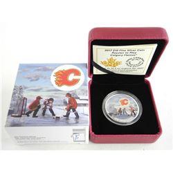Calgary Flames Logo .9999 Fine Silver $10.00 Coin LE/C.O.A.