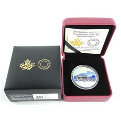 .9999 Fine Silver $10.00 Coin 'Dog Sledding Under The Northern Lights' LE/C.O.A.