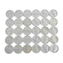 Lot (30) USA Indian Head and Buffalo Nickels