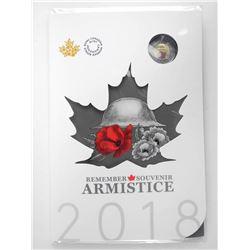 Remember Souvenir Armistice 2018 6 Coin Folio Red Poppy 2.00