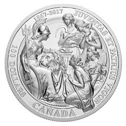 RCM 2017 100.00 .9999 Fine Silver Coin 'The 1867 Confederation Pure Silver Coin' Mintage 1000 Proof