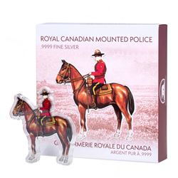 .9999 Fine Silver sculpture RCMP with Display 100 Grams - ASW