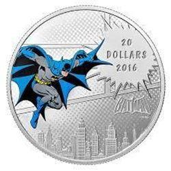 DC Comics The Dark Knight .9999 Fine Silver $20.00 Coin LE/C.O.A.