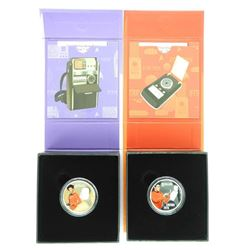 Lot (2) .9999 Fine Silver $10.00 Coins 'STAR TREK - Scotty' LE/C.O.A.