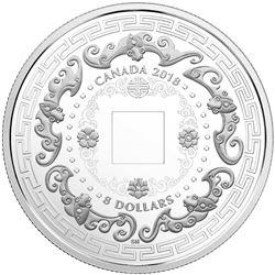 2018 .9999 Fine Silver $8.00 Coin 'Good Luck Charms' LE/C.O.A.