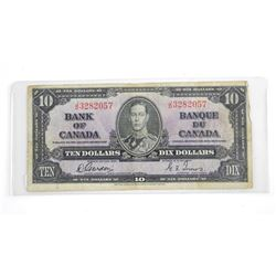 Bank of Canada 1937 Ten Dollar Note