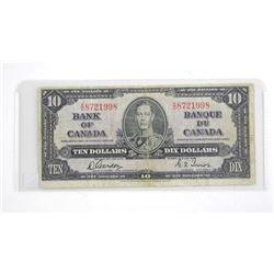 Bank of Canada 1937 Ten Dollar note
