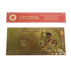 9999 24kt Gold Leaf Note 100.00 Bruce Lee
