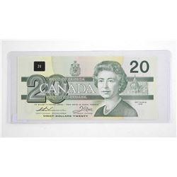 Bank of Canada 1991 Twenty Dollar Note. Choice UNC BC-58a.