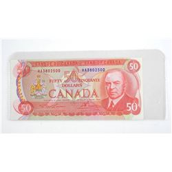 Bank of Canada 1975 Fifty Dollar Note. UNC. BC51a