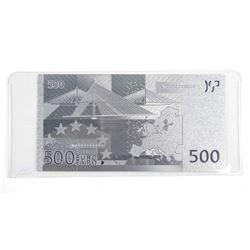 9999 Fine Silver Leaf 500 Euro Note