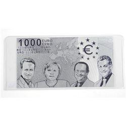 9999 Fine Silver Leaf 1000 Euro Note