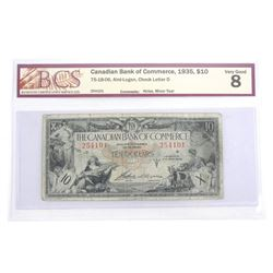 1935 Bank of Commerce Ten Dollar Note. VG8. BCS (NR)