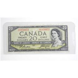 Bank of Canada 1954 Devils Face Twenty Dollar Note