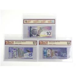 Group of Bank of Canada Ten Dollar Notes 2005, 201