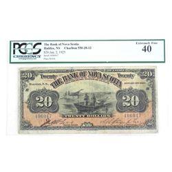 The Bank of Nova Scotia 20.00 EF40. 1925 PCGS. Sca
