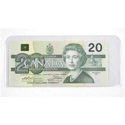 Bank of Canada 1991 Twenty Dollar Note. (AIX) No S