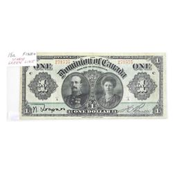 Dominion of Canada 1911 1.00 black Seal. Scarce Gr