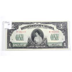 Dominion of Canada 1917 - One Dollar Note (EF)